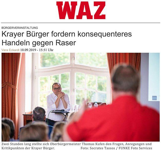 Pressebericht der WAZ